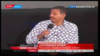 News Center: Elton Irungu's address at the State Summit on Corruption and Accountability