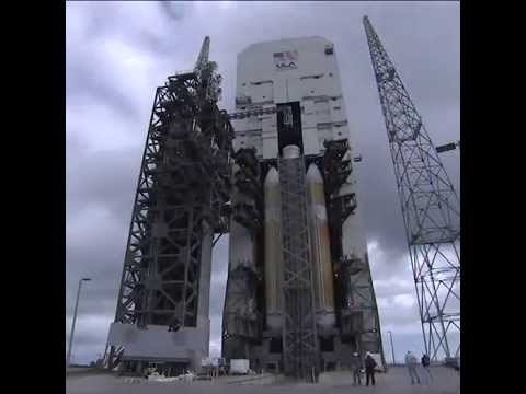 Orion's Delta IV Heavy rolls out