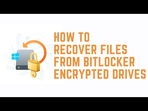 Recover deleted or lost files from BitLocker encrypted drive