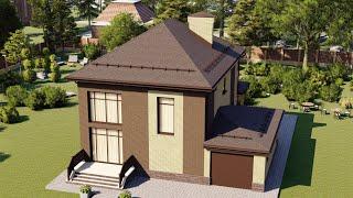 Проект дома 150-A, Площадь дома: 150 м2, Размер дома:  12,8x12 м
