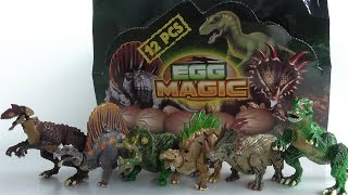 ชุดของเล่นเปิดไข่ต่อตัวไดโนเสาร์ Egg Magic - dooclip.me