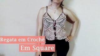 Regata De Square Em Crochê | Parte 2 De 2