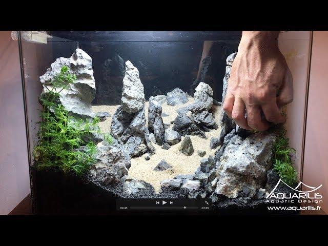 Reproduction de Port Coton en décor d'aquarium Aquascaping