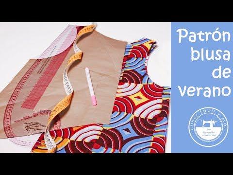 Trazar el patrón de una blusa de verano