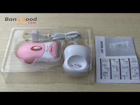 Keda KD-187 Hair Remover Dry & Wet Washable Rechargeable Trimmer Lady Shaver Epilator-Banggood.com