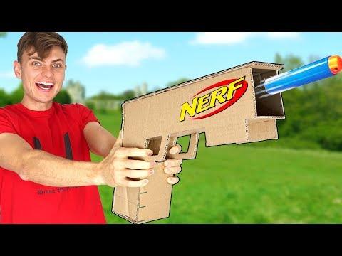 CARDBOARD NERF GUN!!