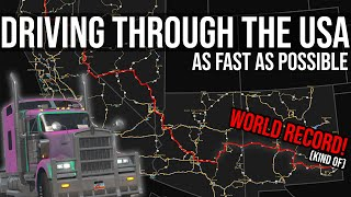 How Fast Can I Drive Across the USA?
