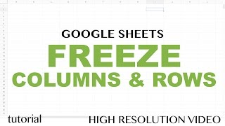 Google Sheets - Freeze Rows and Columns Tutorial, How To Freeze Single or Multiple Rows or Columns