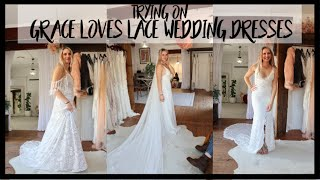 TRYING ON GRACE LOVES LACE WEDDING DRESSES | Tiana-Rose
