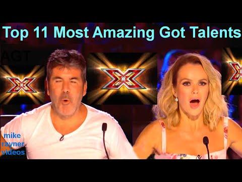 All 11 Best Got Talent Auditions! Top Golden Buzzer Worldwide! AGT! BGT! (видео)