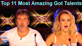 All 11 Best Got Talent Auditions! Top Golden Buzzer Worldwide! AGT! BGT!