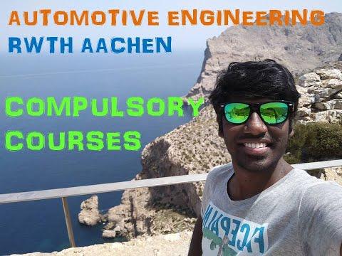 Automotive Engg. RWTH Aachen Course Review
