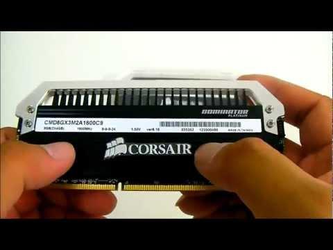 Corsair Dominator Platinum 8GB (2x4GB) 1600MHz DDR3 Memory Kit Overview