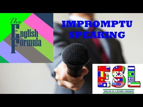 Impromptu Speaking Practice 3