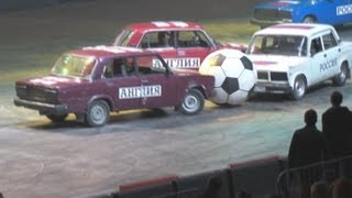 Top Gear Live 2013 Москва Олимпийский 9. Авто футбол на Lada