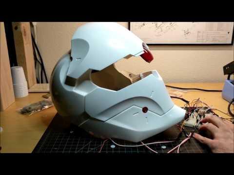Casco para moto- diseño Conceptual controlado con arduino
