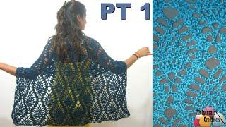 Pineapple Lace Shawl - Crochet Tutorial - Part 1