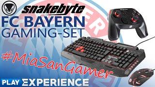 Das FC BAYERN MÜNCHEN Gaming-Set von SNAKEBYTE bei uns im Test ★ Play Experience