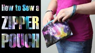 DiY Fashion Tutorial - How To Sew A Zipper Pouch Clutch Bag