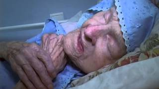 Granny is 107 years old but .../ Трогательно. Бабушке 107 лет.