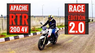 Apache RTR 200 4V Race Edition 2.0 ABS - Full Review | ABS Test | Speed Test