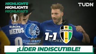 Highlights | KAA Gent 2 - 1 Oleksandriya | Europa League - J 6 - Grupo I | TUDN