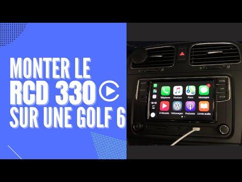 Montage d'un autoradio RCD 330 CarPlay sur une VW Golf 6