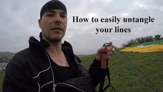Paragliding tutorial 3: How to easily untangle your lines