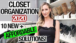 BEST CLOSET ORGANIZATION 2020: 10 affordable closet organization + storage ideas!