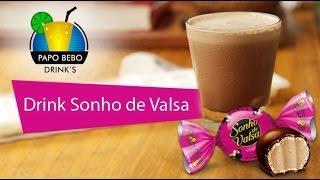 BATIDA DE SONHO DE VALSA - COMO FAZER - com vodka leite condensado chocolate - Papo Bebo Drinks #10
