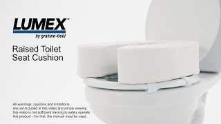 Lumex Raised Toilet Seat Cushion Youtube Video Link