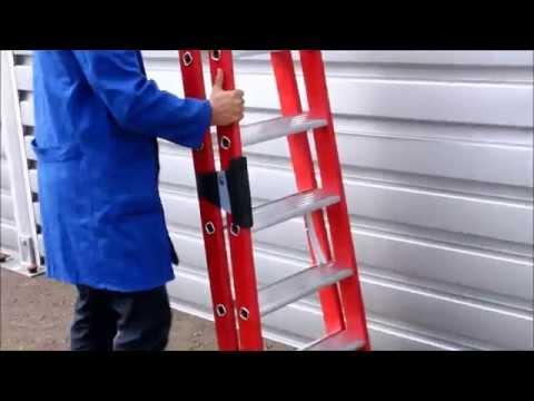 GÜNZBURGER Kunststoff-Stehleiter, Stufenleiter, nivello, Handhabung