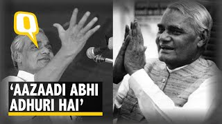 'Aazaadi Abhi Adhuri Hai': Remembering India's Poet Prime