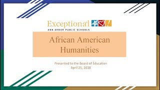 AAPS High School African American Humanities Courses Overview