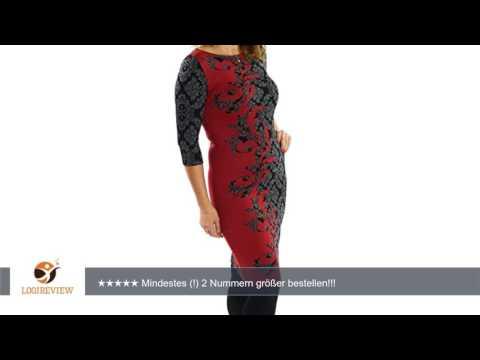 Jersey-Kleid Bleistiftkleid mit blumen muster Gr 38 40 42 44 46 48 50 52 auch große Größen |