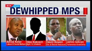 Jubilee In-House Coup:Jubilee leadership orders for removal of 4 Chairmen