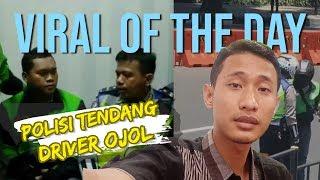 VIRAL HARI INI: Video Oknum Polisi Tendang Driver Ojol