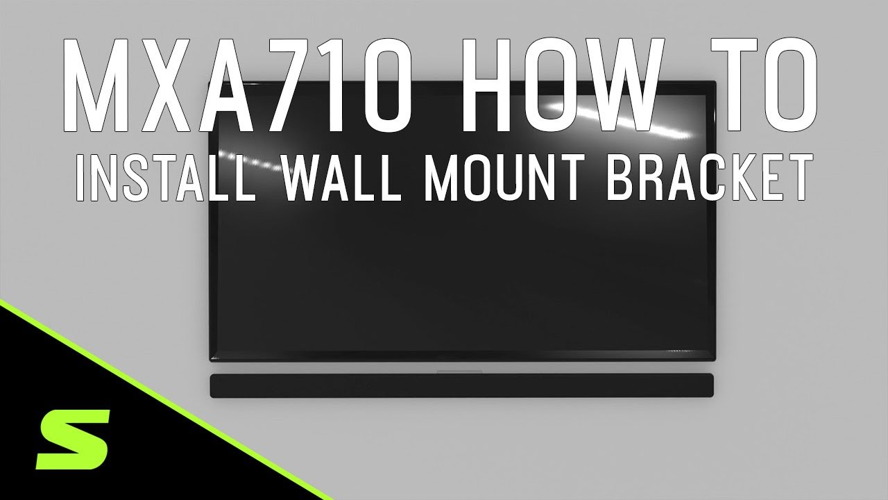 Shure MXA710 How To Install Wall Mount Bracket