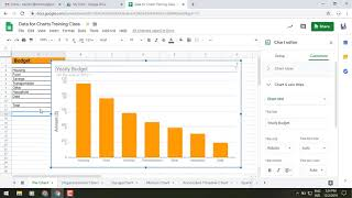 Directly click on chart elements to move and delete them in Google Sheets