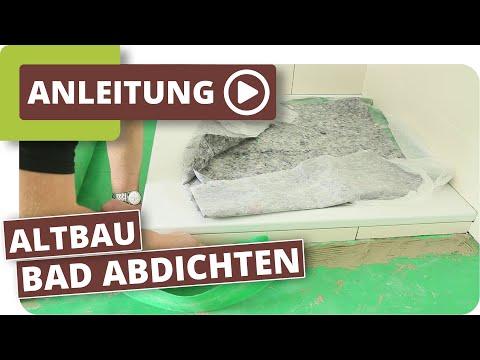 Badezimmer Altbau - Holzboden richtig aufbauen und abdichten