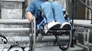 ♿Subiendo y bajando las escaleras en mi silla de ruedas