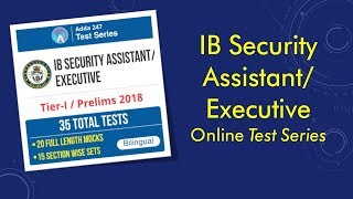 IB Security Assistant   Executive   Test Series Hindi & English Medium