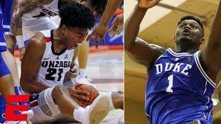 Gonzaga fends off Zion, Duke in thrilling Maui Invitational finish | College Basketball Highlights