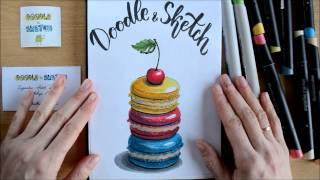 Евгения Липатова - обзор коробочки Doodle&Sketch MarkerBox и видео урок по скетчингу (февраль 2017)