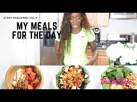 21 Day Challenge/Menu 3 - What I eat in a Day