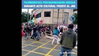 FASCISTAS DE KEIKO Y EL APRA ATACAN AL PUEBLO QUE DEFIENDE SUS DERECHOS