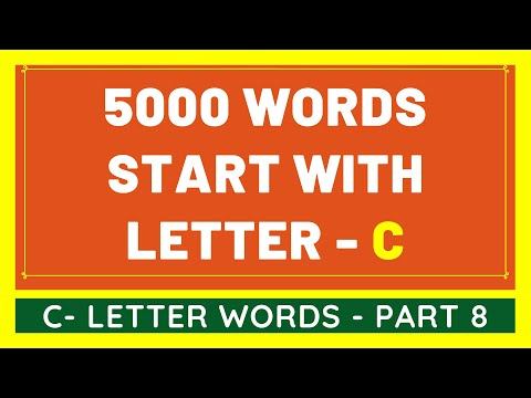 5000 Words That Start With C #8 | List of 5000 Words Beginning With C Letter [VIDEO]