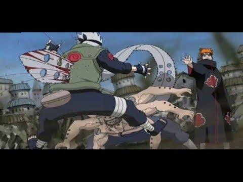 Kakashi's Death - Pain Vs Kakashi - kakashi over uses  Mangekyou Sharingan 60FPS    Naruto Shippuden