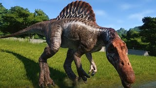 Jurassic World Evolution - Spinosaurus Gameplay (PS4 HD) [1080p60FPS]