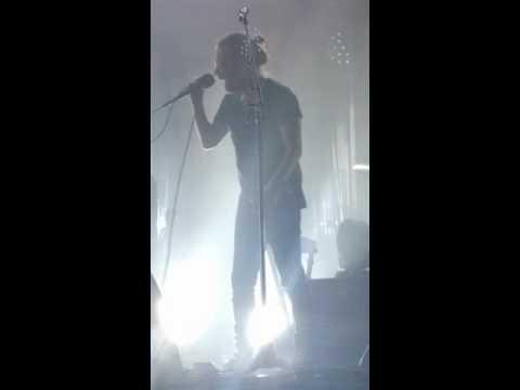 Thom Yorke of Radiohead dancing... or something.